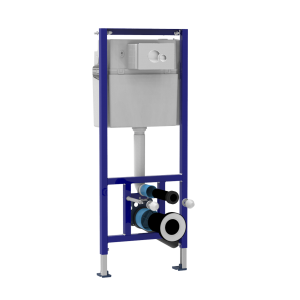 Samostoječi vgradni WC element SANIT 995 N s tipko S 706 krom sijaj in nosilci
