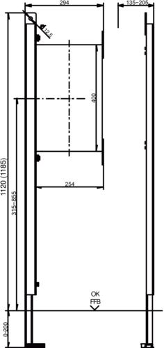Pritrdilni-Element SANIT INEO levi GV1120