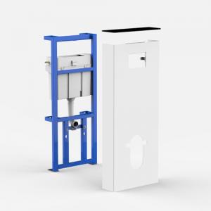 Sanitarni modul SANIT INEO SOLO Viseča WC-školjka, belo / črni