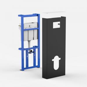 Sanitarni modul SANIT INEO SOLO Viseča WC-školjka, črno / beli