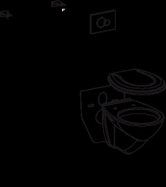 WC paket SANIT INEO PLUS komplet Višine 1120