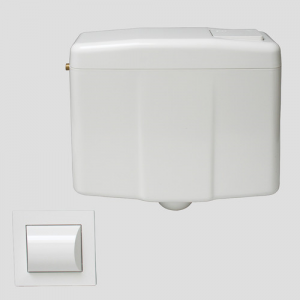 Splakovalnik SANIT 926 z WC-ročno aktivirno tipko belo, 1K