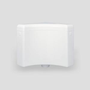 Kotni splakovalnik SANIT 927 (6-9 L) s kotnim ventilom, alpsko beli