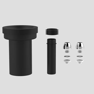 PE WC-priključna garnitura SANIT, fi 90, 180 mm, krom