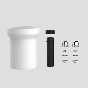 PP WC-priključna garnitura SANIT, fi 110, 160 mm, krom