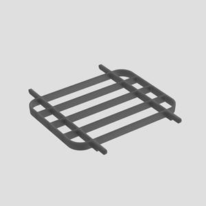 Podporna rešetka SANIT za umivalnik maxi antracit