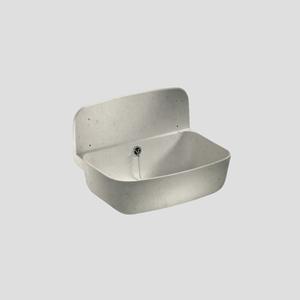 Stenski umivalnik SANIT s prelivom, granit