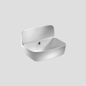 Stenski umivalnik SANIT s prelivom, sivi