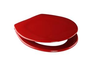 WC-Deska SANIT 4002 (abumed) Tremoplast kovinski tečaji rdeča