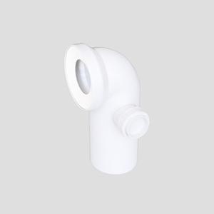 WC-Priključno koleno SANIT 90° fi 110 z desnim priključkom, alpsko belo