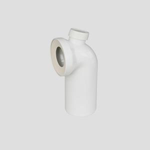 WC-Priključno koleno SANIT 90° fi 110 z dodatnim priključkom, alpsko belo