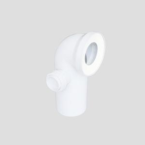 WC-Priključno koleno SANIT 90° fi 110 z levim priključkom, alpsko belo