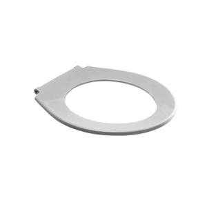 WC-deska SANIT 4002 brez pokrova z vdolbenimi kovinskimi tečaji bela