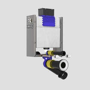 WC montažni splakovalnik SANIT aktviranje od zgoraj višine 820