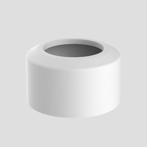 WC- pokrivna rozeta SANIT, dvodelna, fi 110, bela