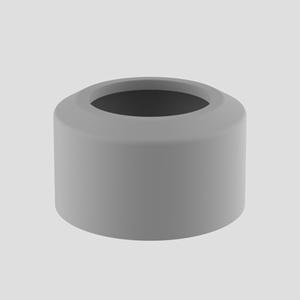 WC- pokrivna rozeta SANIT, dvodelna, fi 110, manhattan
