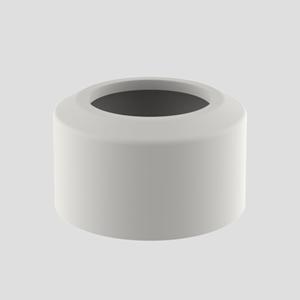 WC- pokrivna rozeta SANIT, dvodelna, fi 110, pergamon